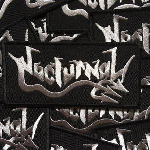 NOCTURNAL - Silver logo - PATCH