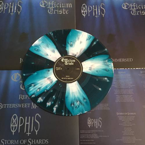 OFFICIUM TRISTE / OPHIS - Immersed - 12''LP (SEABLUE WITH WHITE CORNETTO SPLATTER)