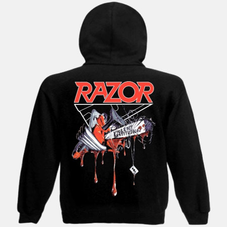 RAZOR - Violent Restitution - HOODED ZIPPER